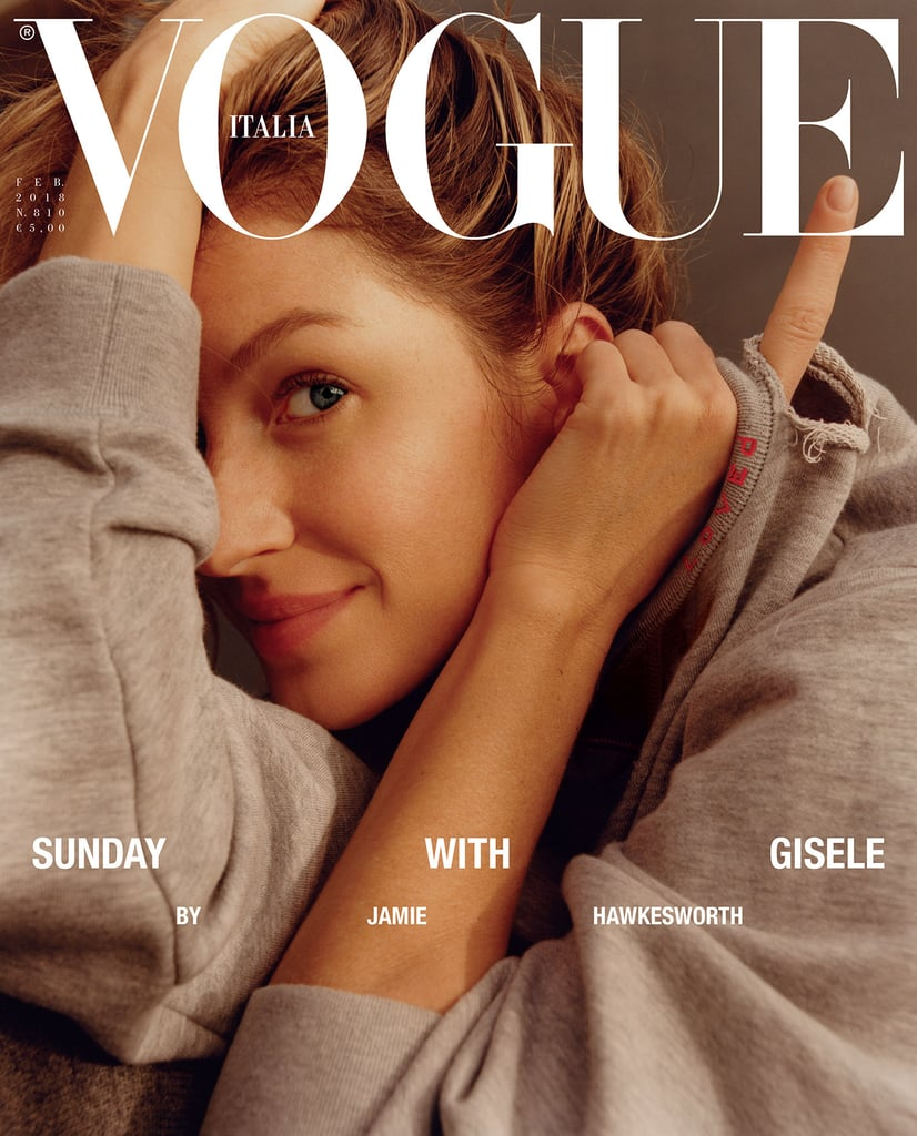 Gisele Bündchen Wearing No Makeup on the Cover of Vogue Italia