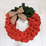 Pumpkin Burlap Wreath