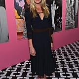 A classic dress was it for Alexandra Richards, who picked a vintage number for the event. Metallic gold sandals, also by the brand, brightened things up.