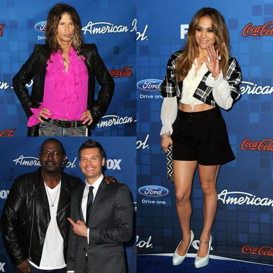 Pictures of Jennifer Lopez Celebrating the American Idol Finalists
