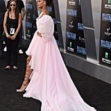 Rihanna Pink Giambattista Valli Dress at Valerian Premiere