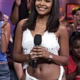Singer Samantha Mumba stopped by TRL in 2002.