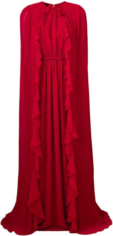 Giambattista Valli Long Ruffle Cape Gown