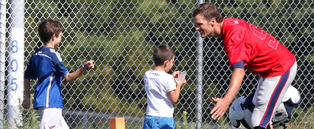 Tom Brady and Kids at Football Practice Aug. 2015 | Pictures