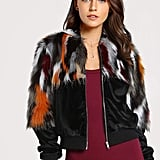 Shein Colorful Faux Fur Coat