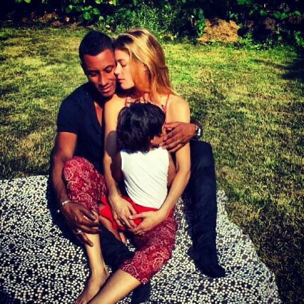Doutzen Kroes shared an adorable photo of her husband, Sunnery James, and son Phyllon. Source: Instagram user sunneryjames