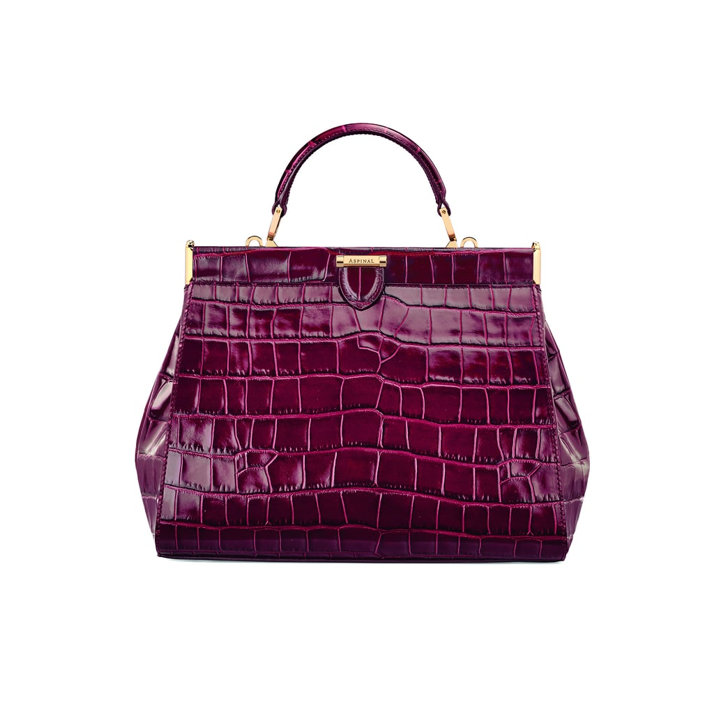 The Dockery Small in Bordeaux Croc ($1,395)