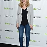 Elizabeth Meriwether wore jeans and heels for the New Girl PaleyFest panel.