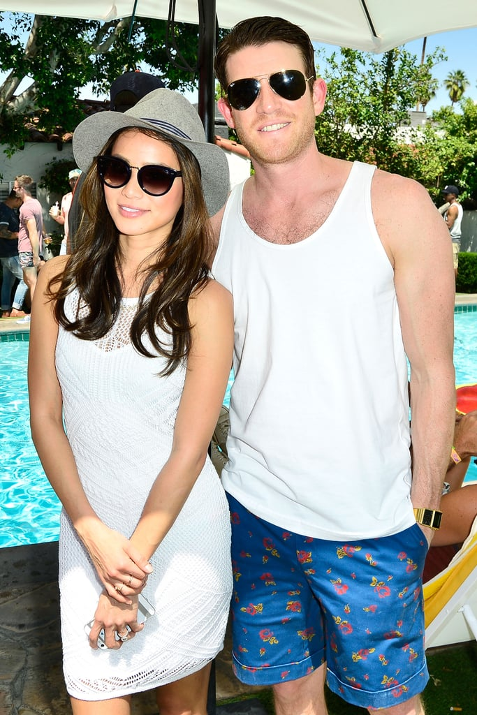 Jamie Chung and  fiancé Bryan Greenberg looked good.