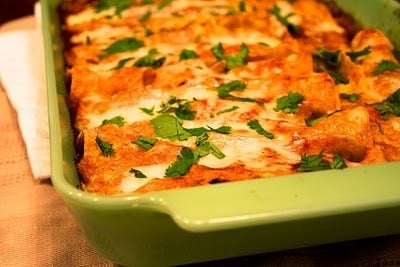 Recipe of the Week: Chicken Enchiladas with Red Chile Sauce