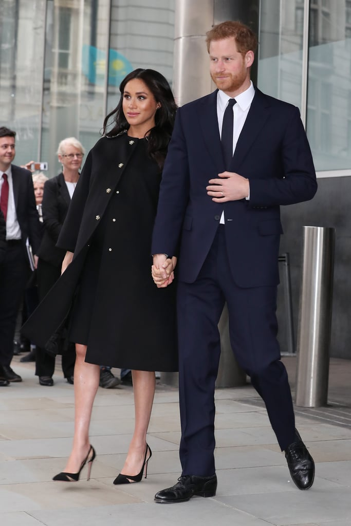 "Though the Duchess of Sussex is said to now officially be on maternity leave, Prince Harry and Meghan Markle made an unscheduled appearance on Tuesday, when they visited the High Commission of New Zealand (also known as New Zealand house) in London. The couple made this important visit in order to pay tribute to those who lost their lives in the Christchurch mosque attacks on March 15. They began by laying flowers outside the building, and received a traditional Hongi greeting from High Commissioner Sir Jerry Mateparae and Deputy High Commissioner David Evans, before signing a book of condolences. Meghan reportedly wrote, ""Our deepest condolences. We are with you,"" while Harry signed his name along with the Maori word ""Arohanui,"" a popular way of signing off letters and notes that translates to ""with deep affection."" Harry and Meghan's visit was made at the request of Queen Elizabeth II, who chose them as they were the most recent members of the royal family to visit New Zealand. The couple traveled there in November 2018 as part of their royal tour, where they met members of the public and learned more about the culture and history of the country."