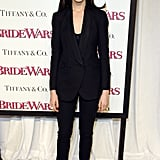 Anne suited up in Boy by Band of Outsiders for the January 2009 premiere of Bride Wars.