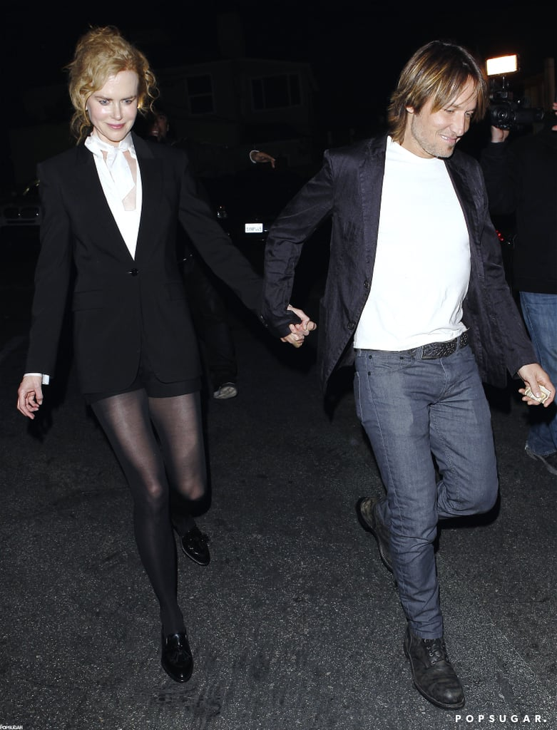 Nicole Kidman and Keith Urban walked hand-in-hand to dinner in LA.