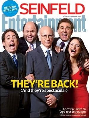 The Cast of Seinfeld Reunites With Larry David For the Cover of Entertainment Weekly