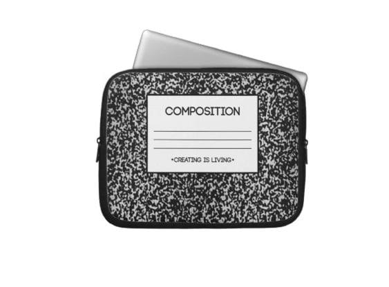 Composition Notebook Laptop Sleeve