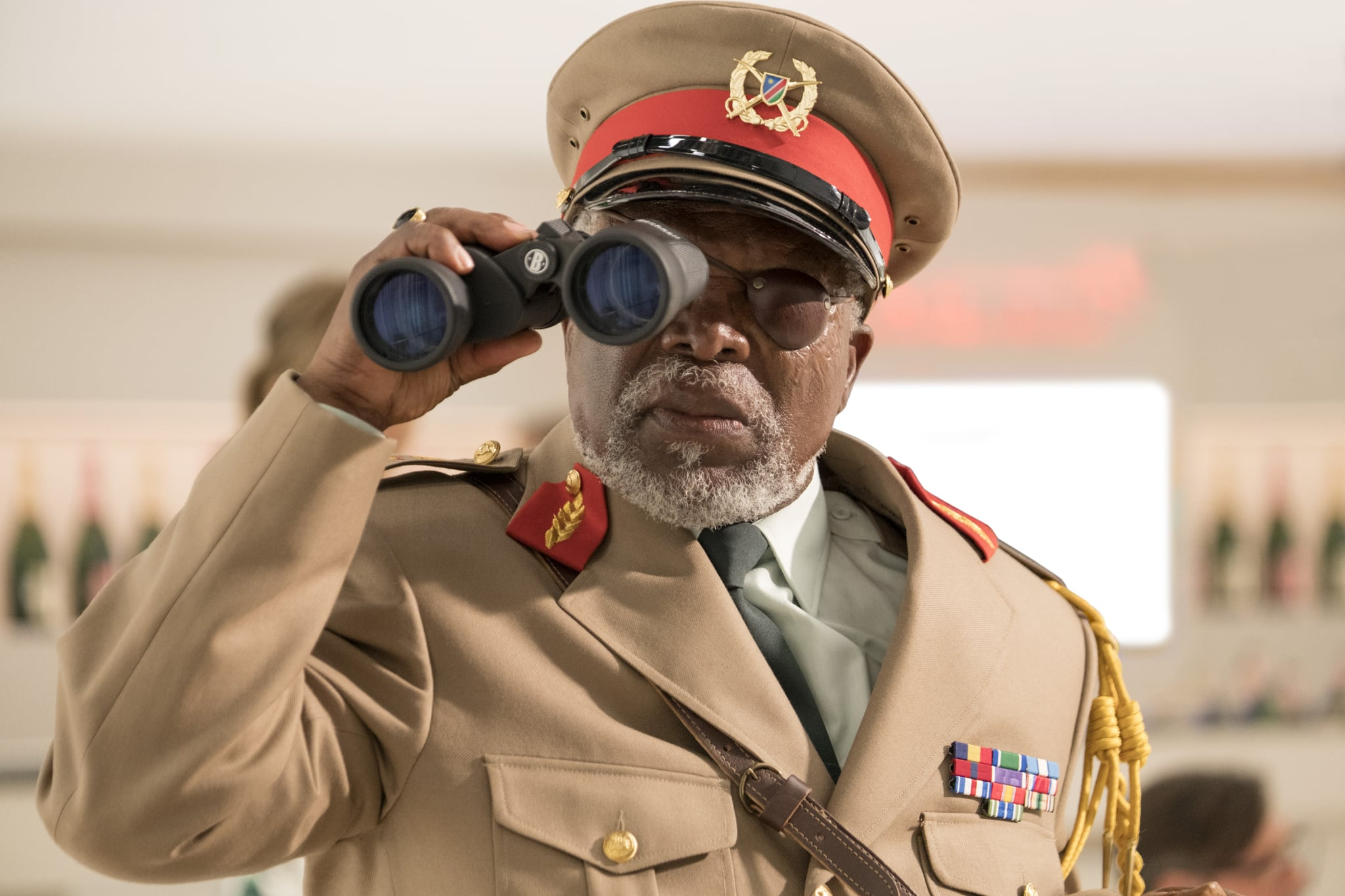 John Kani as Colonel Ulenga in MURDER MYSTERY