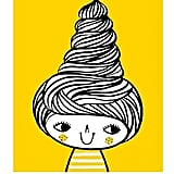 Artist Flora Chang created this cheery hair print, which is bound to put a smile on even the grumpiest face.