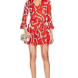 DVF Sylvia Silk Wrap Dress ($468)