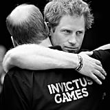 They shared a hug at the Invictus Games in 2014.