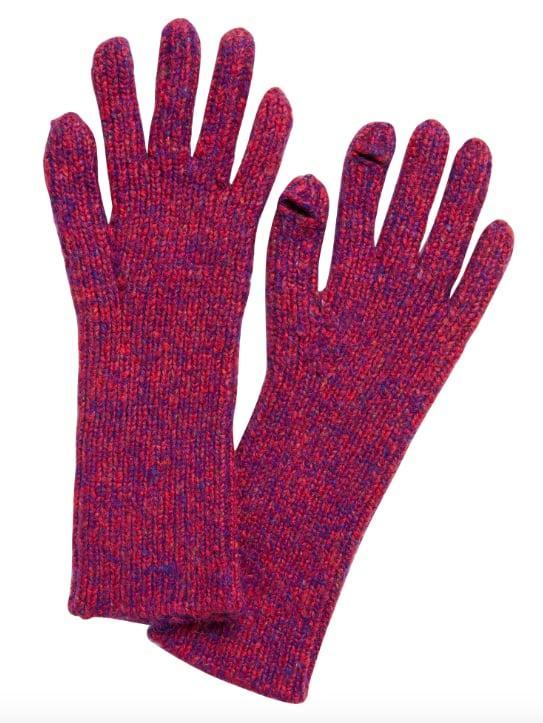 Ribbed Knit Texting Gloves