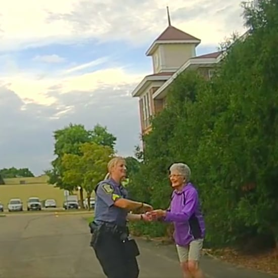 Old Lady Dancing With Police Officer Video