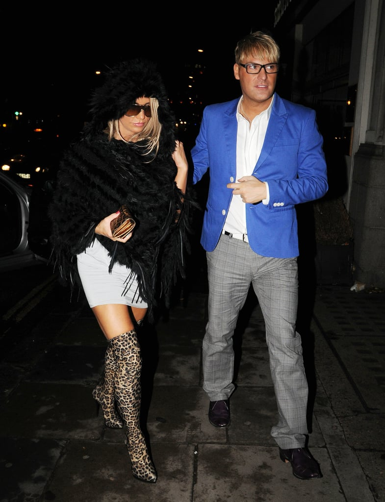 Pictures of Katie Price Partying in London After Let's Dance For Comic Relief Rehearsals