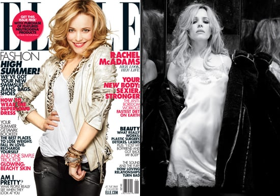 Elle magazine's June cover will feature Rachel McAdams front and center, and while Rachel's happy, perky side will show up on newsstands everywhere, we're particularly smitten by the inside feature story, which features a much more sultry, romantic side of Rachel. Check out the slideshow a sneak peek, and visit Elle for the full shoot and to read about why Rachel is such a romantic. What do you think of Rachel's look?