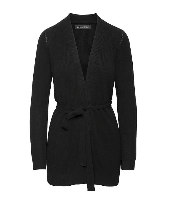 Wool Cashmere Blend Cardigan Sweater