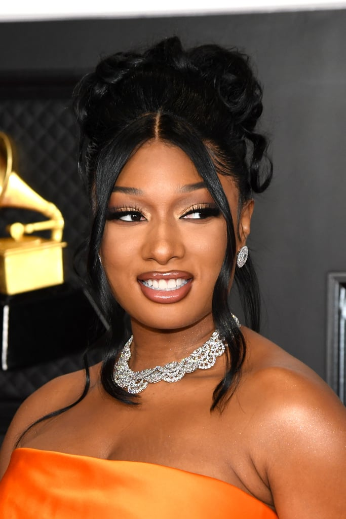 Megan Thee Stallion in the Brown Lip Liner Trend