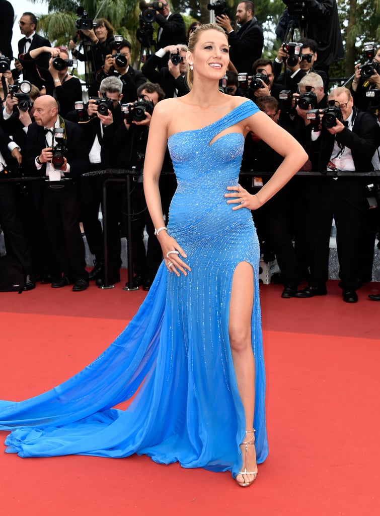 Wearing an Atelier Versace gown and Christian Louboutin shoes to the 2016 Cannes Film Festival.