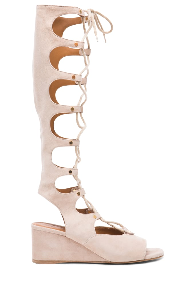 Chloé Suede High Gladiator Wedge Sandals ($1,450)