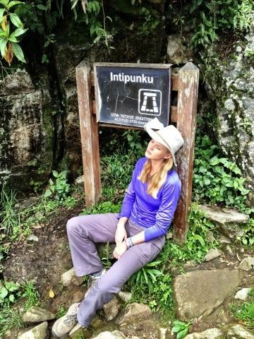 Anne Vyalitsyna went hiking in Peru. Source: Twitter user AnneV