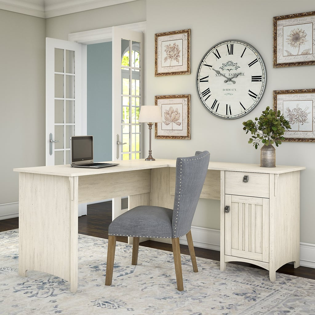 Bush Furniture Salinas L Shaped Desk with Storage