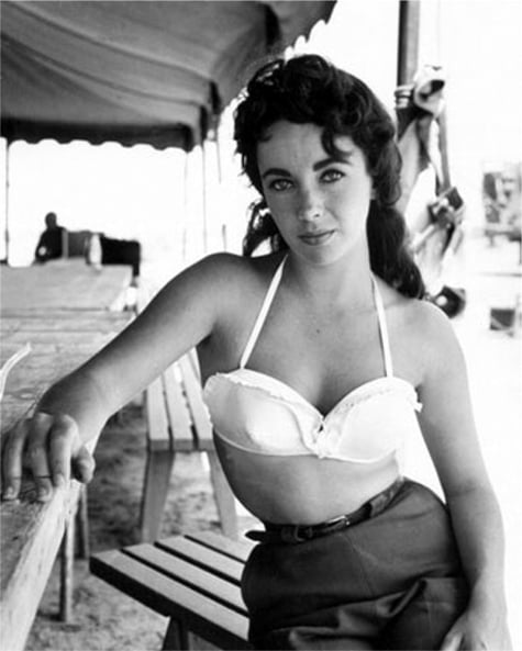 On the set of Giant, 1956