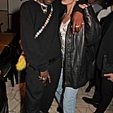 ASAP Nast and Bella Hadid at the Love Magazine Fall 2020 Party
