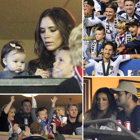 Harper Beckham Cheers on David's MLS Championship With Her Brothers and Mom Victoria