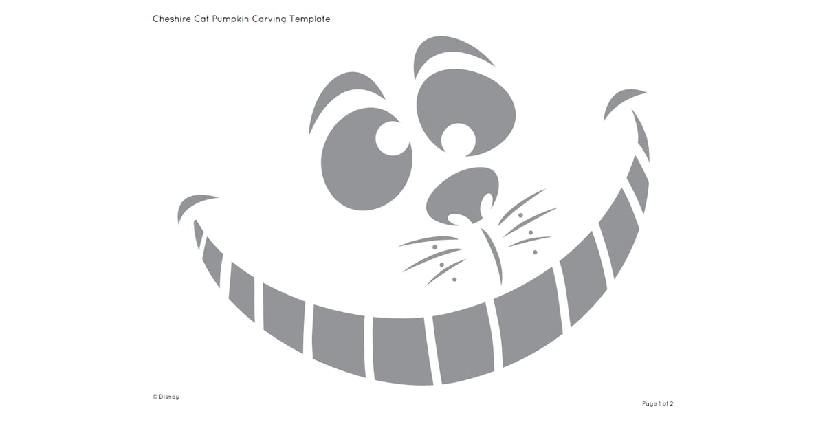 Cheshire Cat | Free Disney Pumpkin Stencils | POPSUGAR Smart Living ...
