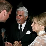 Prince William and Barbra Streisand and James Brolin at BAFTA Brits to Watch dinner.