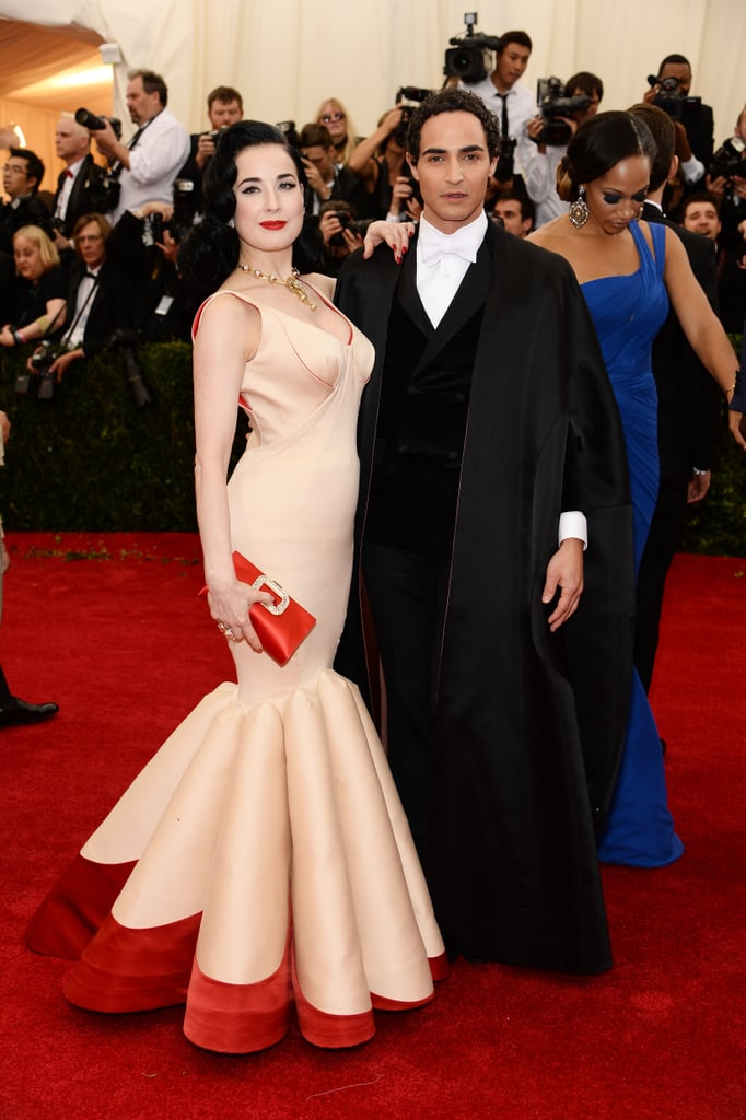 Dita Von Teese and Zac Posen at the 2014 Met Gala