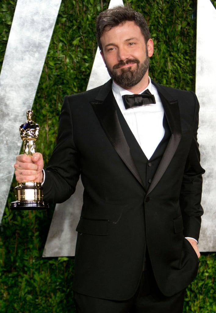 Ben Affleck arrived at the Vanity Fair Oscar party.