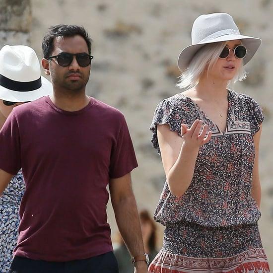Jennifer Lawrence and Aziz Ansari in Italy 2016