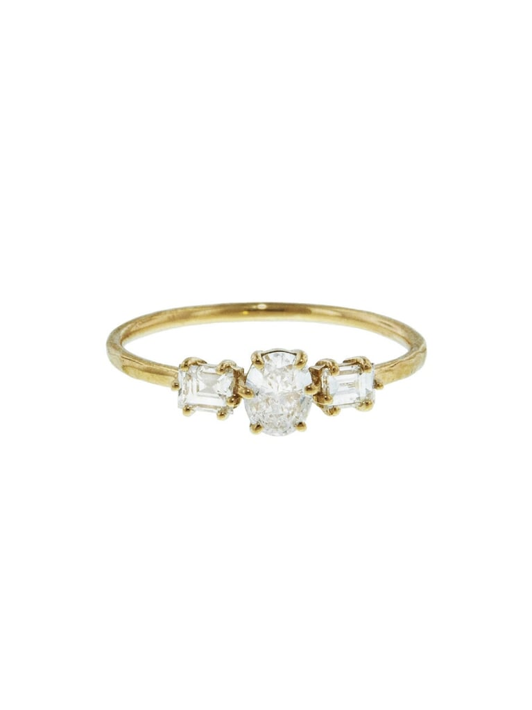 Melissa Joey Manning Oval And Emerald Diamond Princess Ring