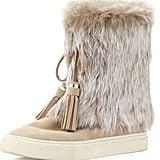Tory Burch Fur-Cuff Boot ($395)