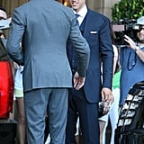 Kris Humphries at his wedding rehearsal dinner.