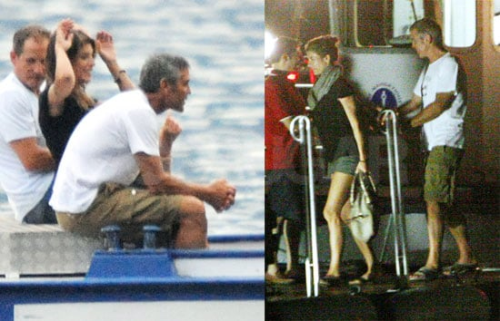 Pictures of George Clooney With Elisabetta Canalis on Lake Como