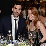 Isla Fisher and Sacha Baron Cohen attended the AFI event.