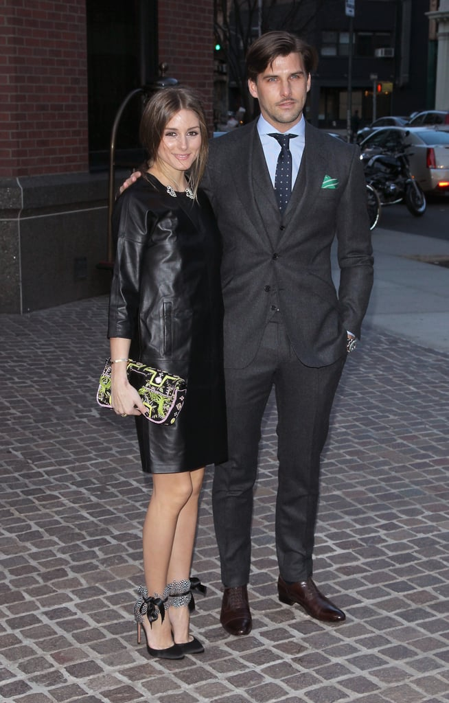 Olivia Palermo and Johannes Huebl dropped by the event.