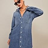 Reformation Edie Denim Shirt Dress