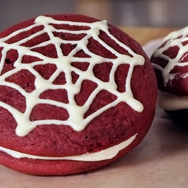Red Velvet Waffles With Cake Mix