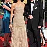 Mary and Frederik at a pre-wedding dinner for Princess Victoria of Sweden and Daniel Westling in Stockholm in June 2010.
